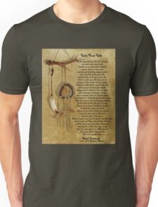 """Live Your Life""  by Chief Tecumseh dream catcher Unisex T-Shirt"