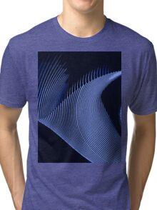 Blue waves, line art, curves, abstract pattern Tri-blend T-Shirt