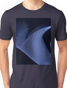 Blue waves, line art, curves, abstract pattern Unisex T-Shirt