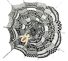 Zentangle Spider Web Photographic Print