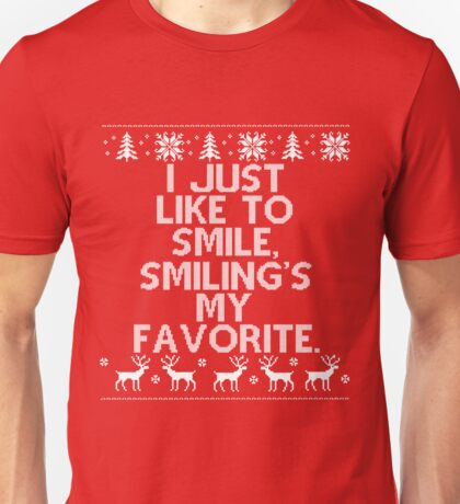 I like to Smile, Smiling's my Favorite - Elf Unisex T-Shirt