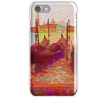 Venice Gondolas Abstracted iPhone Case/Skin