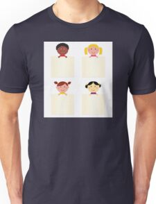 Four cute children with blank banners Unisex T-Shirt