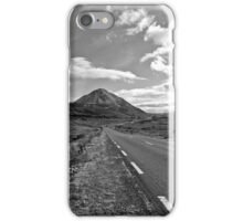 black and white road to the Errigal mountains Ireland iPhone Case/Skin