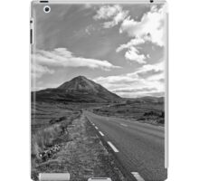 black and white road to the Errigal mountains Ireland iPad Case/Skin