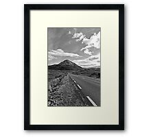black and white road to the Errigal mountains Ireland Framed Print