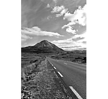 black and white road to the Errigal mountains Ireland Photographic Print