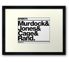 DFNDNYC (Black Edition) Framed Print