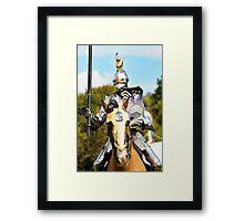 jousting knight Framed Print