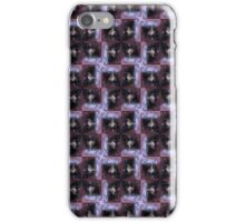 rosebud in the snow 3, tinted, red star pattern  iPhone Case/Skin
