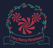 A Merry Christmas Wreath One Piece - Short Sleeve