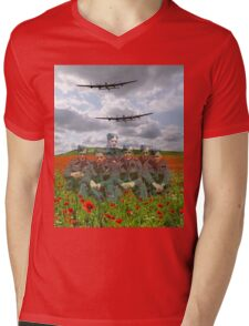 A Tribute To The Dambusters 617 Squadron Crews 1943 Mens V-Neck T-Shirt