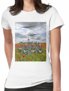 A Tribute To The Dambusters 617 Squadron Crews 1943 Womens Fitted T-Shirt