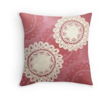 Katherine Dine - Doilyart Throw Pillow
