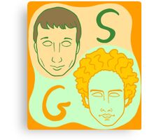 Simon and Garfunkel concept Canvas Print