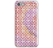 Verona Italia Quatrefoil Watercolor Purple Red Orange Plum iPhone Case/Skin