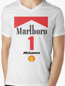 Senna Mclaren Mens V-Neck T-Shirt