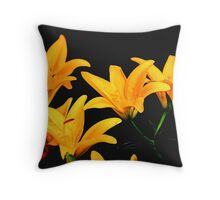Digital Lilies Throw Pillow