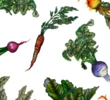 Watercolor Veggies Sticker