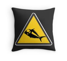 Terror Fish Alert Throw Pillow