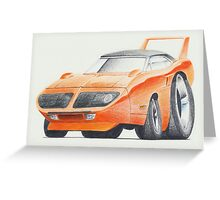 Plymouth Superbird by Glens Graphix Greeting Card