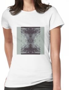 Digitized Brush Womens Fitted T-Shirt