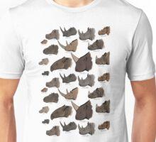Rhinocertidae - extant rhinos and their relatives. Unisex T-Shirt