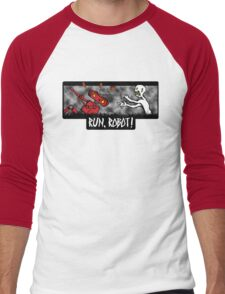 Run, Robot! Men's Baseball ¾ T-Shirt