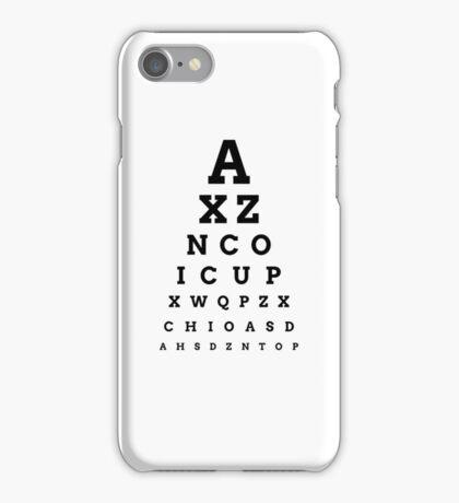 'ICUP' EYE CHART iPhone Case/Skin