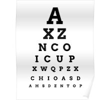 'ICUP' EYE CHART Poster