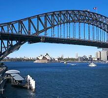 Sydney Harbor Bridge and Opera House by martinberry