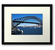 Sydney Harbor Bridge and Opera House Framed Print