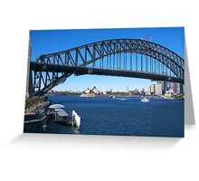 Sydney Harbor Bridge and Opera House Greeting Card