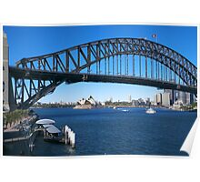 Sydney Harbor Bridge and Opera House Poster