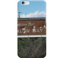 Bullet hole sign iPhone Case/Skin