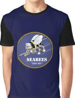 US NAVY SEABEES CAN DO! Mascot Graphic T-Shirt