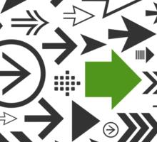 Background of arrows Sticker