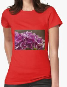 hydrangea in the garden Womens Fitted T-Shirt