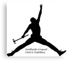 Croquet Jump Man (Southside Croquet Club & Distillery Canvas Print