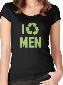 I Recycle Men Women's Fitted Scoop T-Shirt
