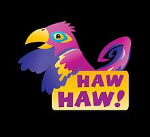 HAW HAW cute tropical parrot by jazzydevil