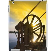 crane gears on Salleen pier with sunset iPad Case/Skin