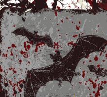 Vampire Bats - Blood Splatters - Grunge Sticker