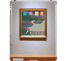 woman by road (in museum) iPad Case/Skin
