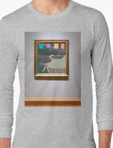 woman by road (in museum) Long Sleeve T-Shirt