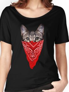 Gangster Cat Women's Relaxed Fit T-Shirt
