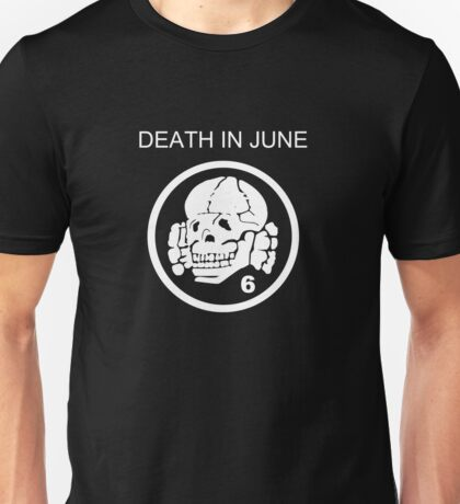 Death In June Skull Punk Rock Unisex T-Shirt