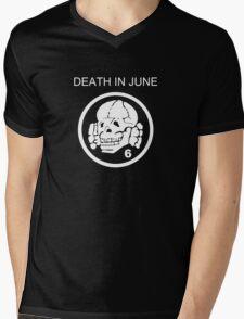 Death In June Skull Punk Rock Mens V-Neck T-Shirt