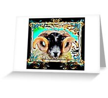 THE MIGHTY GOAT - black background Greeting Card
