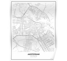 Amsterdam Minimalist Map Poster